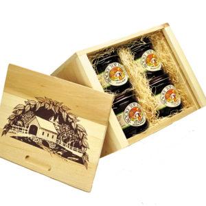 4-Jar White Cedar Gift Box