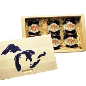 6-Jar White Cedar Gift Box